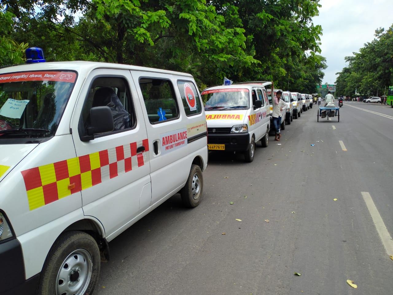 आज से दौड़ेंगी 50 बसे और 350 से अधिक एम्बुलेंस बिहार के कई जिलों में !!